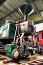 Vieille locomotive Photo libre de droits