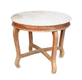Vieille table ronde Image stock