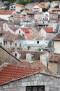 Vieille ville hvar en croatie Photo stock