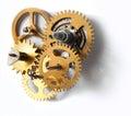 Viejo mecanismo del reloj Imagen de archivo libre de regalías