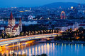 Vienna, aerial view at night Royalty Free Stock Photo