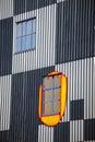 Detail facade of Spittelau waste incineration in Vienna