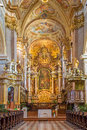 Vienna baroque altar of monastery church in klosterneuburg build by sebastian stumpfegger and designed by matthias steinl from Royalty Free Stock Photo