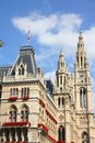 Vienna city hall austria famous building the old town is a unesco world heritage site Stock Photo
