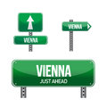 Vienna city road sign illustration design over white Royalty Free Stock Photography