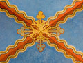 Vienna - Detail from fresco on the ceiling in Carmelites church in Dobling. Royalty Free Stock Photos