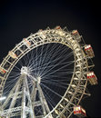 Vienna Ferris wheel at night Stock Photos