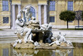 Vienna - fountain by castle Schonbrunn Stock Photos