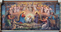 Vienna - Fresco of Nativity scene by Josef Kastner from 1906 - 1911 in Carmelites church in Dobling. Royalty Free Stock Images