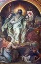 Vienna fresco of resurrection from cent in altlerchenfelder church on july Royalty Free Stock Image