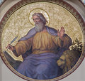 Vienna fresco of st mark the evangelist by josef kastner from years in carmelites church in dobling Royalty Free Stock Photos