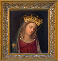Vienna - Glorious paint of Virgin Mary by unknown Italian painter from 15 - 16. cent. in Carmelites church in Dobling. Stock Image