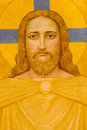 Vienna - Jesus Christ fresco by P. Verkade (1927) as detail from side altar in Carmelites church Stock Photos