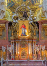 Vienna main altar of baroque st peter church or peterskirche by antonio galli da bibiena und martino altomonte paint on july Royalty Free Stock Photo