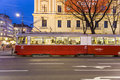 Vienna march historic tram operates vienna late afternoon march vienna january electric tram operated first time vienna tracks Royalty Free Stock Photo