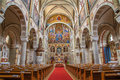 Vienna nave of carmelites church in dobling austria february Royalty Free Stock Image