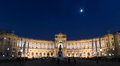 Vienna Neue Burg at night. Panoramic view.