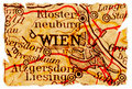 Vienna old map Stock Photography