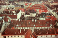 Vienna panoramic view from the roof of st stephen s cathedral Royalty Free Stock Photo