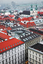 Vienna panoramic view from the roof of st stephen s cathedral austria Royalty Free Stock Photo