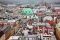 Vienna panoramic view from the roof of st stephen s cathedral austria Royalty Free Stock Photos