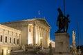 Vienna Parliament Royalty Free Stock Photo