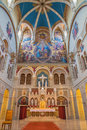 Vienna presbytery of carmelites church and main altar in dobling Royalty Free Stock Photo