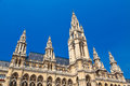 Vienna rathaus building of town hall in built in gothic style Stock Photography