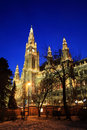 Vienna's City Hall at christmas Stock Photography