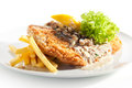 Vienna Schnitzel Royalty Free Stock Photo