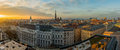 Vienna skyline at sunset Royalty Free Stock Photo