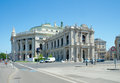 Vienna state opera circa vienna austria by august sicard von sicardsburg and eduard van der null work commenced on the building in Stock Images