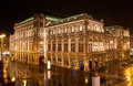 Vienna State Opera in night Royalty Free Stock Photo