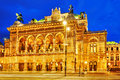 Vienna State Opera is an opera house. Royalty Free Stock Photo