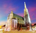 Vienna stephansdom austria at colorful sunset in Royalty Free Stock Images