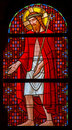 Vienna - Torture of Jesus Christ from windowpane in Carmelites church in Dobling by Geyling workroom Stock Photo