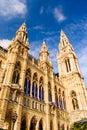 Vienna town hall architecture Stock Photo