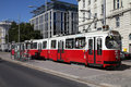 Vienna tram Royalty Free Stock Photos