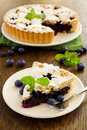 Viennese cake with blueberries