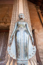 VIENTIANE, LAOS - FEB 2: Bronze Buddha statue at the Haw Phra Ka Royalty Free Stock Photo