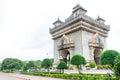 Vientiane laos june patuxai a memorial monument in vientiane laos Stock Images