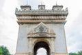 Vientiane laos june patuxai a memorial monument in vientiane laos Royalty Free Stock Photo