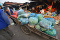 Vientiane laos march unidentified man transporting the goods in talat sao on march in Stock Image