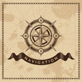 Viento rose nautical compass del vintage Foto de archivo