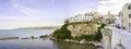 Vieste adriatic sea gargano apulia italy panoramic cliff Royalty Free Stock Photo