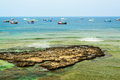 Vietnam beach on ly son island Stock Photography
