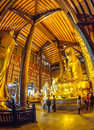 Vietnam chua bai dinh pagoda an interior fish eye view of the in ninh binh Royalty Free Stock Image