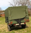 Vietnam era military covered wagon this is an conflict old u s army Royalty Free Stock Image