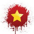Vietnam Flag In Red Spatter Stock Images
