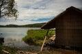 Vietnam, lake, village, village life, local life Royalty Free Stock Photo